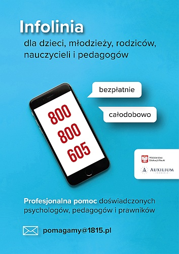wsparcie psychologiczne INFOLINIA 800 800 605